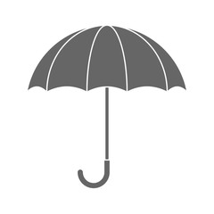 Grey umbrella flat icon