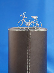 bicycle wire on podium