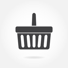 Shopping basket  icon or sign isolated on white background. Vector ilustration.
