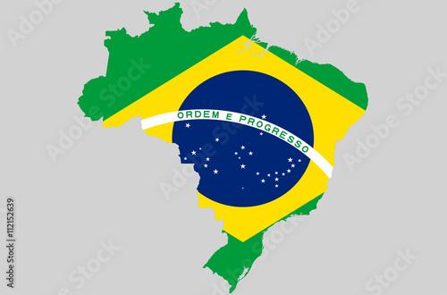 Vector Federative Republic Of Brazil Topographic Map Brazil Flag - Federative republic of brazil map