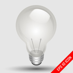 Realistic light bulb isolated on Light background. Vector illustration.