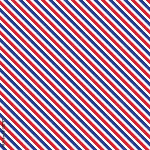 """Patriotic red, white, blue geometric seamless pattern ..."