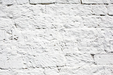 Brick wall texture in white color