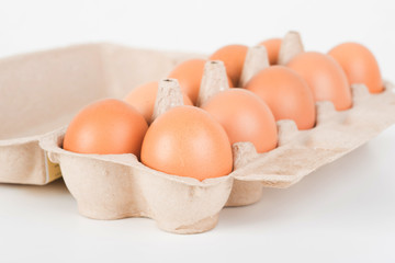 Fresh eggs from the chickens