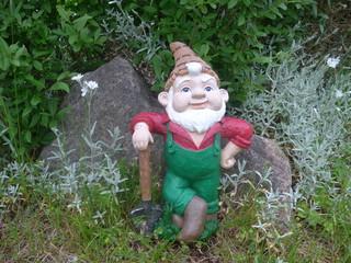 Garden Gnome with shovel
