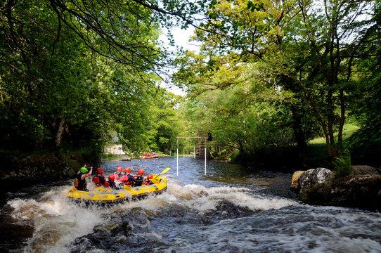 Rafting On The River Treveryn In Snowdonia