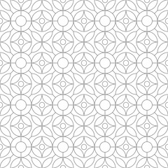 Monochrome geometric thin line seamless pattern. Black and white background. Vector illustration