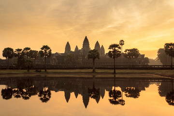 Temple of Angkor Wat during sunrise - Cambodia