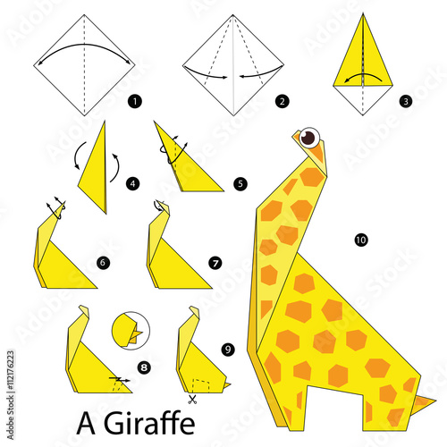 Step By Instructions How To Make Origami A Giraffe