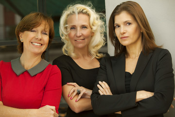 Group of business women smiling