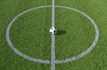 Soccer, Football field background 3D image