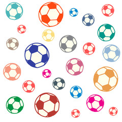 Nice picture of colorful football balls
