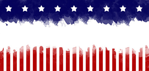American flag grunge greeting card background