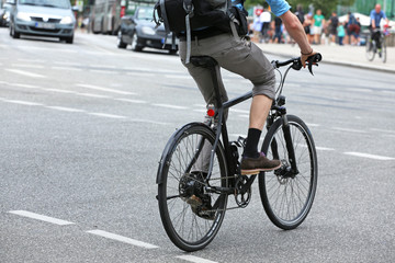 Radfahrer im Straßenraum