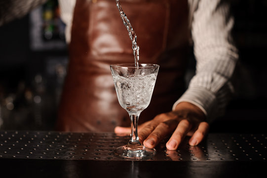 drink splashes out of the glass