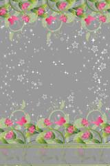 bandeau de fleurs roses