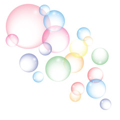 Vector colorful bubbles