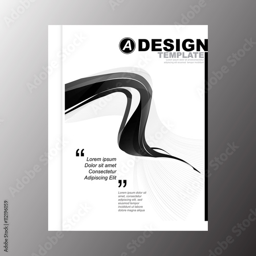 minimal simple black stripe color wave design template background for business annual report book cover brochure