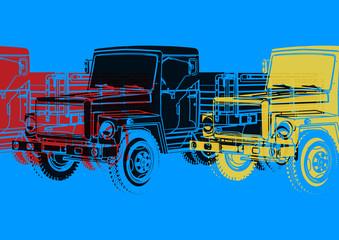 Pop art, camion