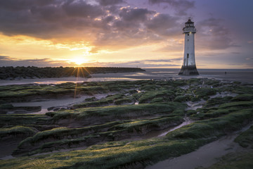 Foto op Canvas Vuurtoren New Brighton Lighthouse