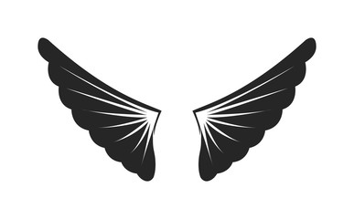 Wings siilhouette vector illustration.