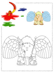 illustrazione di un disegno da colorare