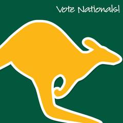 Australian Election card in vector format.