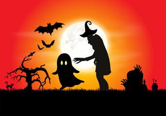 Halloween Horror Background - Vector