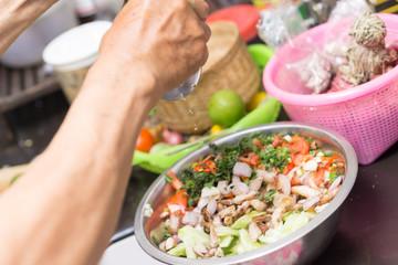Thai spicy cucumber salad