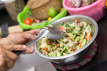 Thai spicy cucumber salad