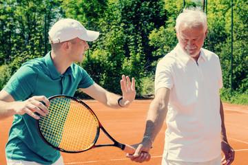Tennis class for seniors