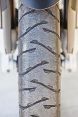 Motorcycle wheel detail