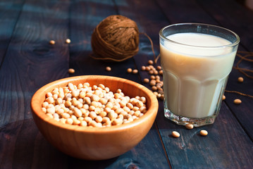 Soy milk and beans