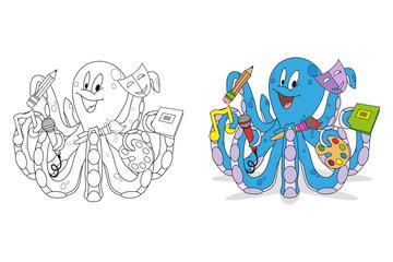 funny octopus set