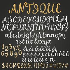 Chalk script latin alphabet