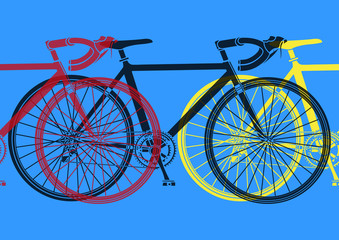 Vélo de course pop art
