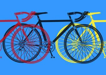 Vélo de course pop art