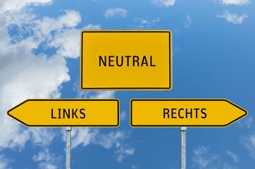 Umleitungsschild Links oder Rechts Neutral