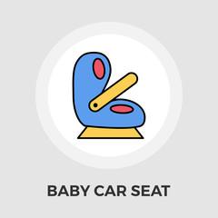 Child Car Seat Flat Icon