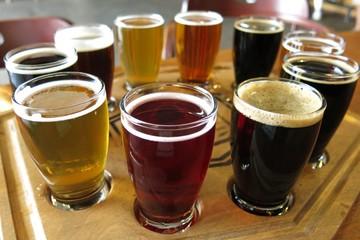 flight of beers beer tasting