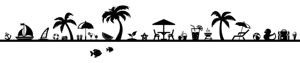 Strand clipart schwarz weiß  Bilder und Videos suchen: sonnestuhl