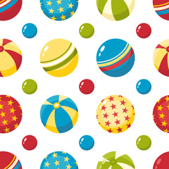 Balls. Seamless pattern.