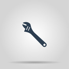 Wrench icon. Vector concept illustration for design