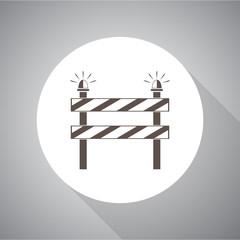Construction Roadblock vector icon