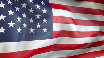 USA flag 3d illustration