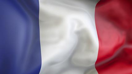 French flag 3d illustration