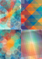 Abstract background set