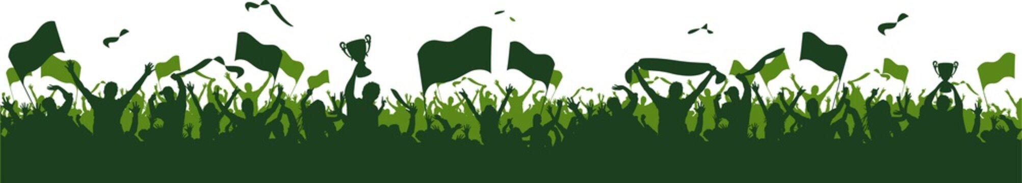 Grün Fans Fahnen Gruppe