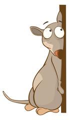 Illustration of a Cute Rat. Cartoon Character