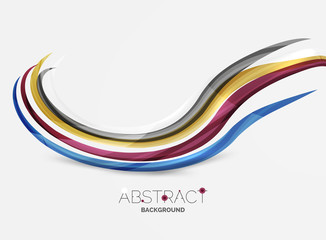 Smooth wave line abstract background